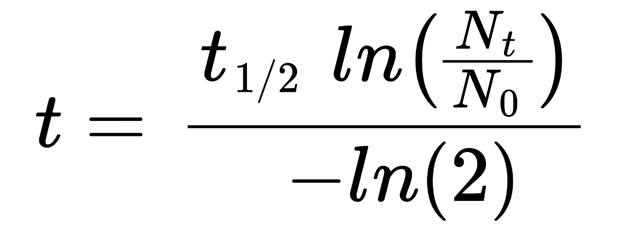 half-life formula to solve for elapsed time